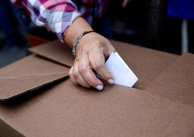 Una votación en Venezuela