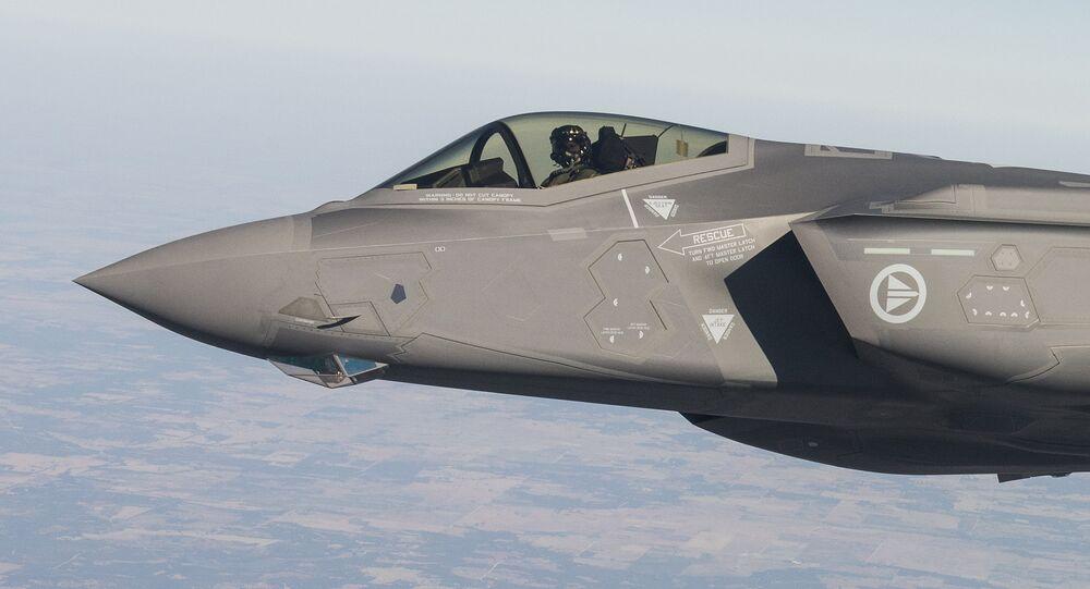 El caza F-35 (archivo)