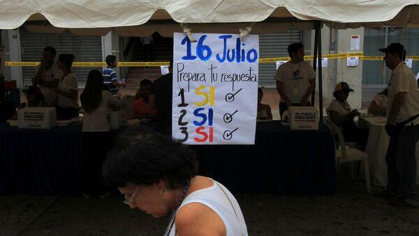 Consulta opositora en Venezuela - Sputnik Mundo