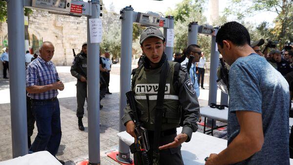 La Policía israelí en la Explanada de las Mezquitas - Sputnik Mundo