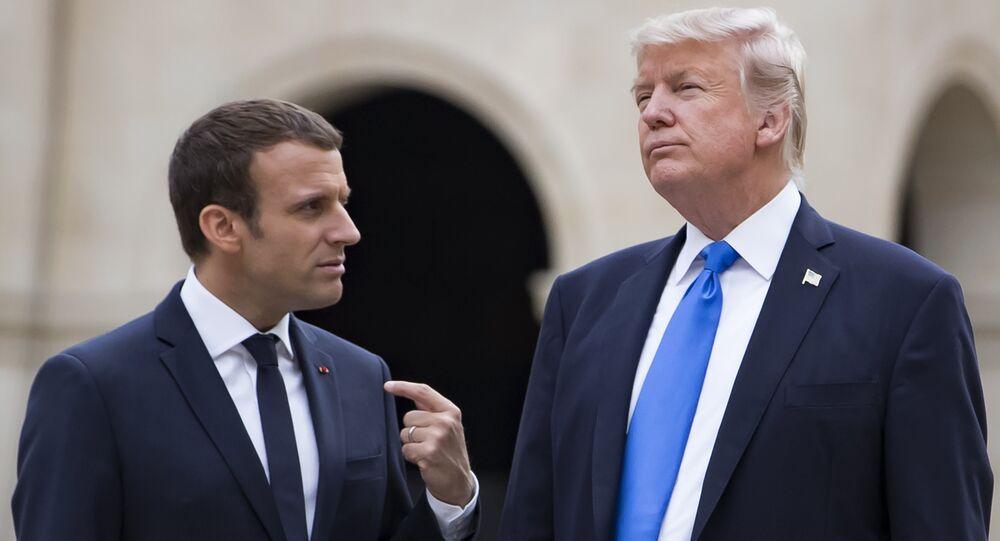 El presidente estadounidense, Donald Trump, y el mandatario francés, Emmanuel Macron (archivo)