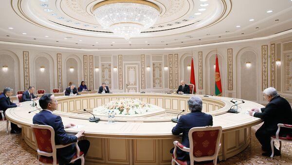La reunión del Consejo de Cancilleres de la Organización del Tratado de Seguridad Colectiva (OTSC) en Minsk - Sputnik Mundo
