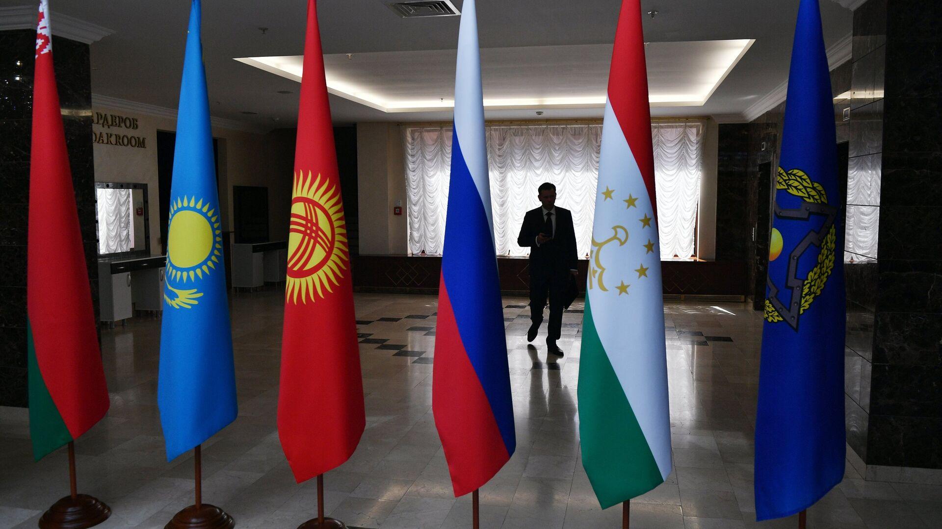 Las banderas de los países de la Organización del Tratado de Seguridad Colectiva (OTSC)  - Sputnik Mundo, 1920, 28.08.2021