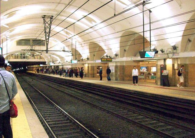 Una estación de metro