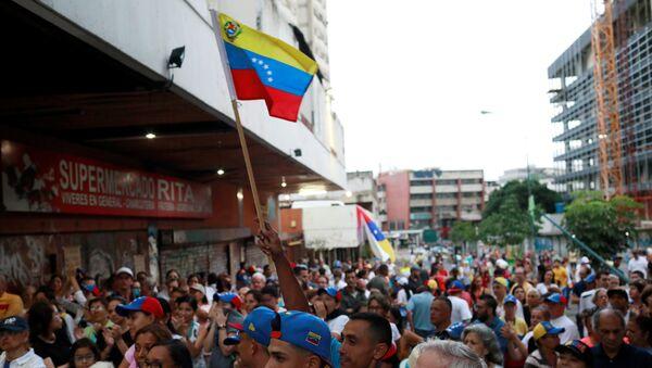 Simpatizantes de la oposición venezolana en Caracas (archivo) - Sputnik Mundo