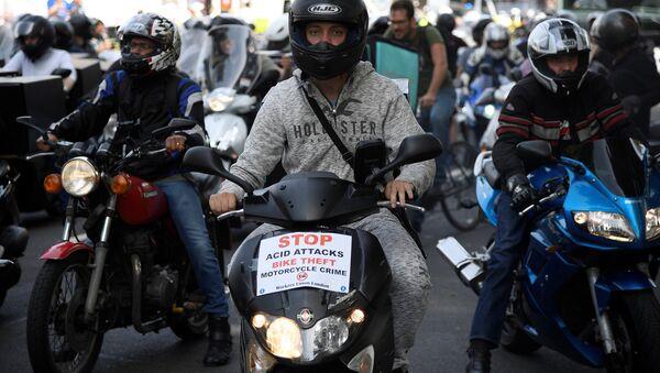 Motociclistas protestan en Londres por los ataques con ácido - Sputnik Mundo