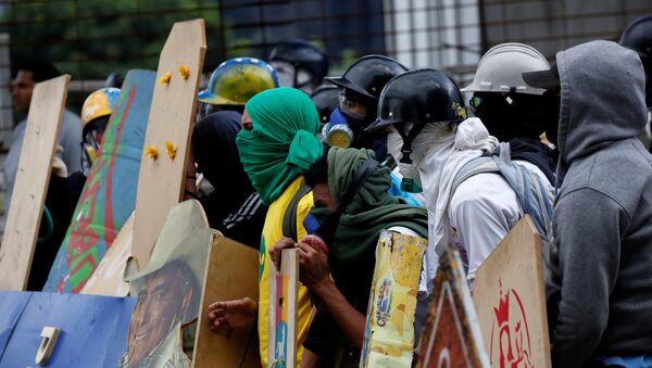 Protesta contra Asamblea Nacional Constituyente en Venezuela - Sputnik Mundo