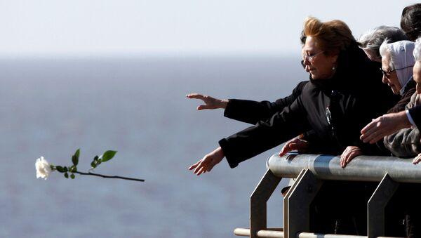 Michelle Bachelet, presidenta de Chile, en Parque de la Memoria de Buenos Aires - Sputnik Mundo