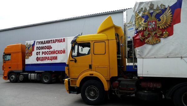 Un convoy ruso con la ayuda humanitaria - Sputnik Mundo