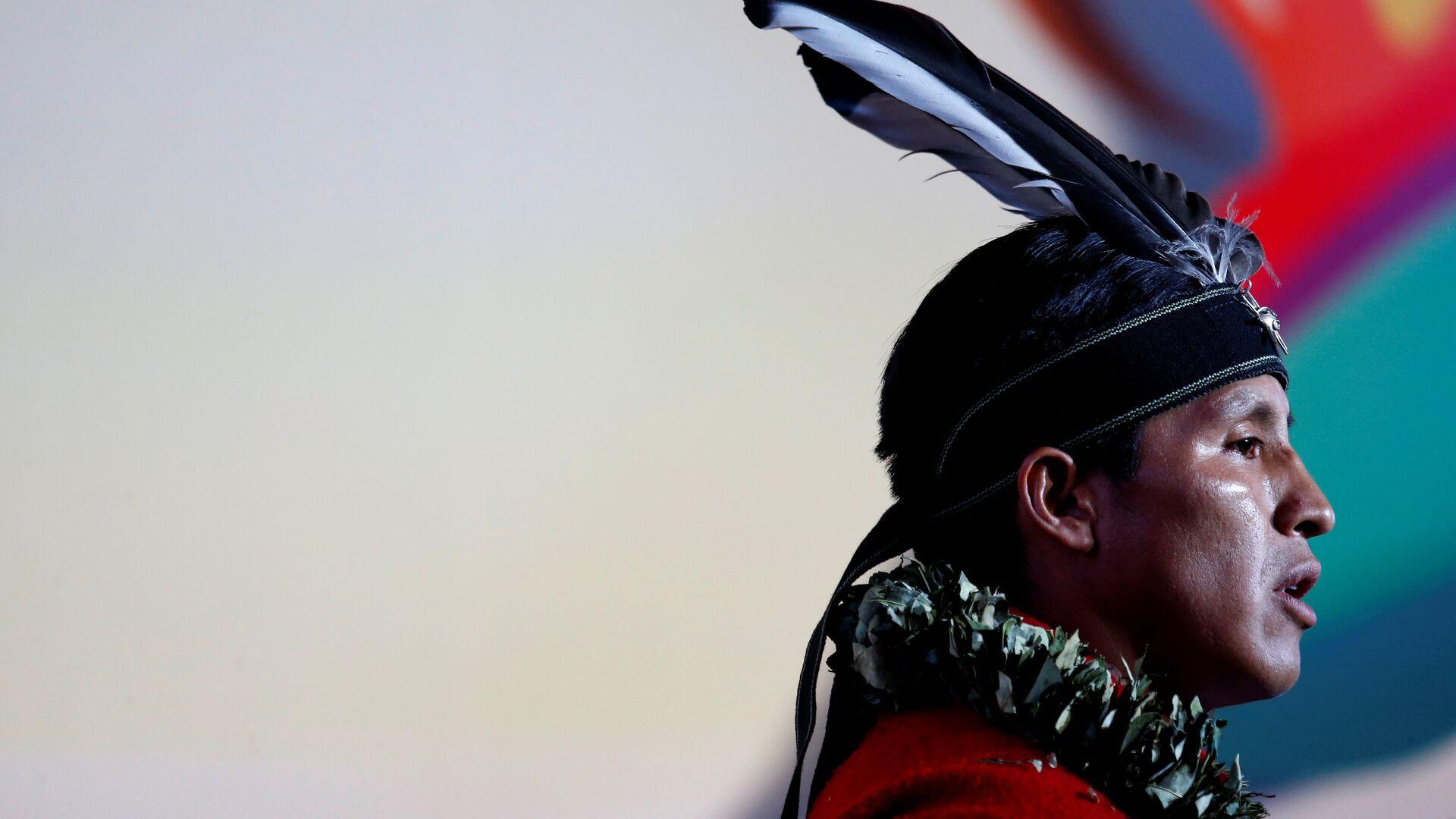 Un hombre indígena de Ecuador (imagen referencial) - Sputnik Mundo, 1920, 27.08.2021