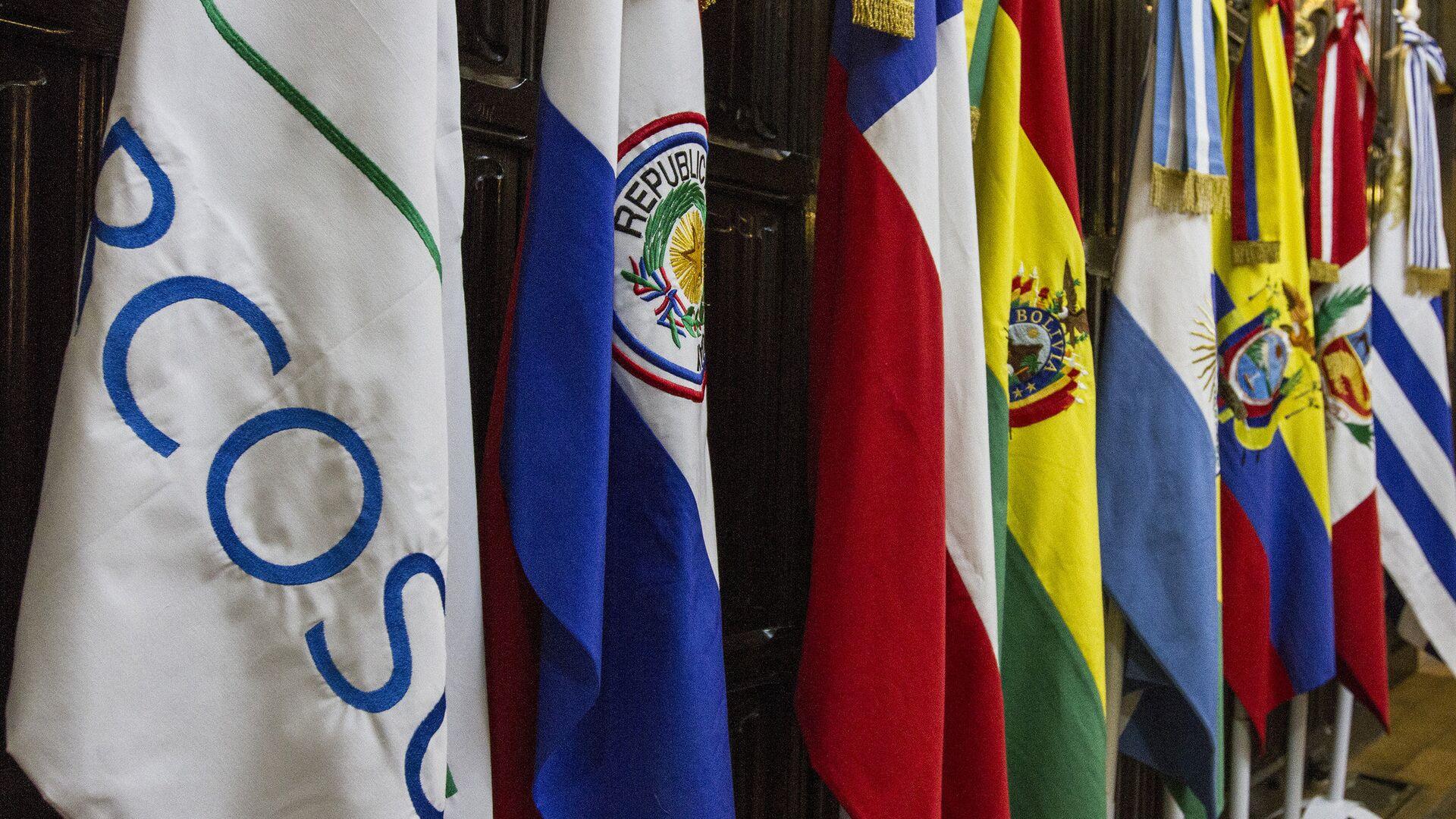 Banderas de los países miembros del Mercosur - Sputnik Mundo, 1920, 17.02.2021
