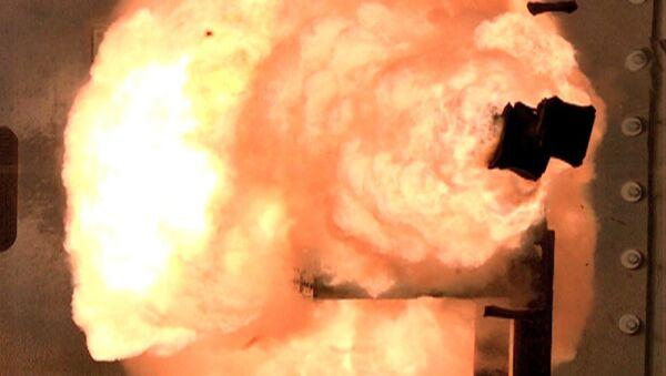 Un cañón de riel estadounidense (archivo) - Sputnik Mundo