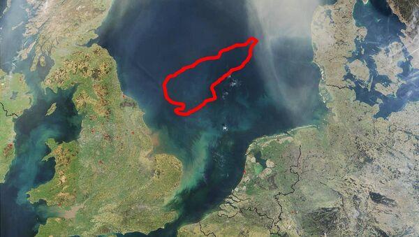 El Banco Dogger situado en la zona central del mar del Norte, a 100 km de la costa de Gran Bretaña - Sputnik Mundo