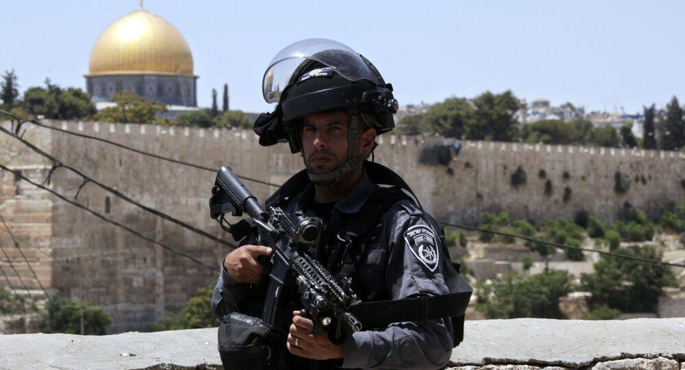 Un oficial de policía fronterizo israelí