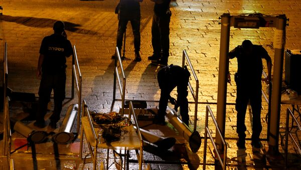 Las fuerzas de seguridad de Israel retiran los detectores de metales de la Explanada de las Mezquitas - Sputnik Mundo