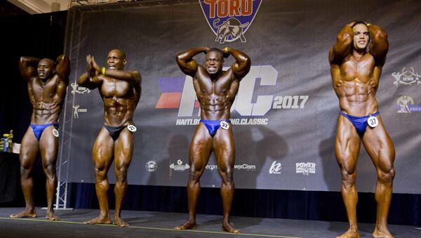 El histórico primer torneo de fisiculturismo entre Haití y la República Dominicana - Sputnik Mundo