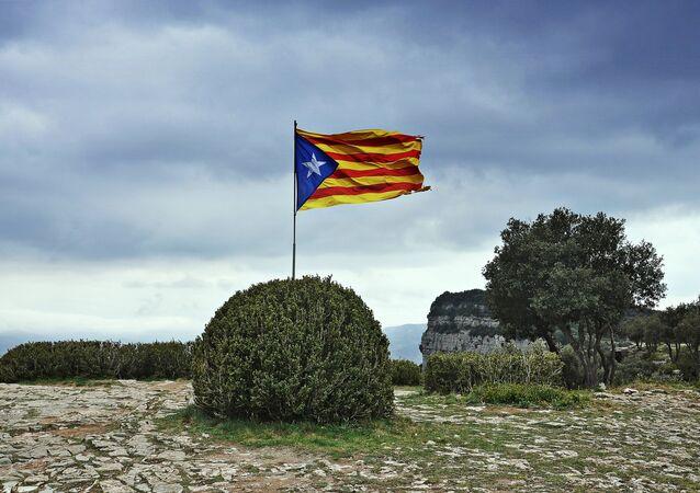 La bandera independista de Cataluña