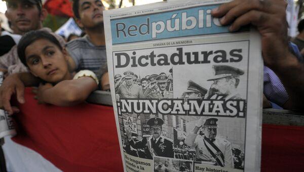 Una demostración en conmemoración de la caída de la dictadura de Alfredo Stroessner en Asunción, Paraguay (archivo) - Sputnik Mundo