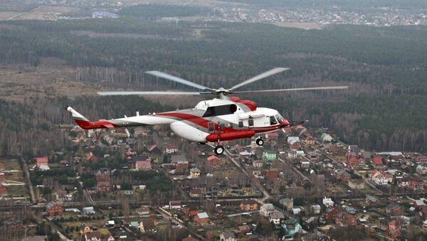 El helicóptero Mi-171A2 durante un vuelo de pruebas - Sputnik Mundo