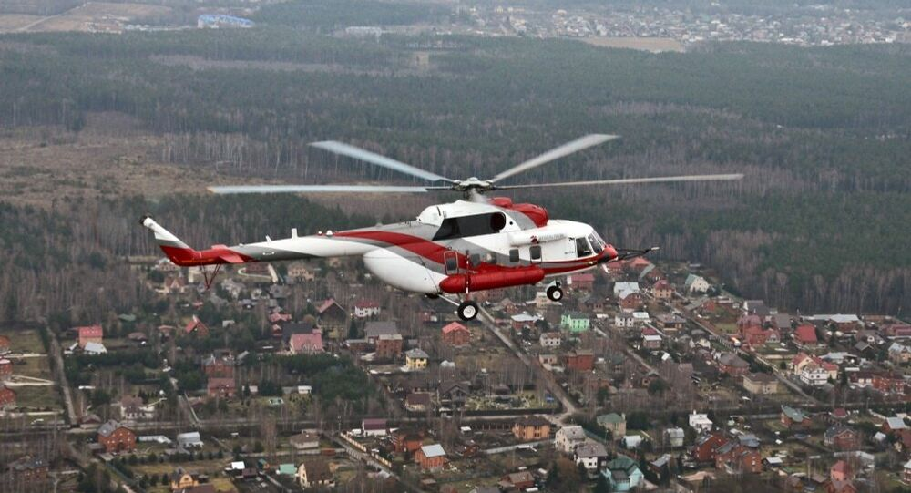 El helicóptero Mi-171A2 durante un vuelo de pruebas (archivo)