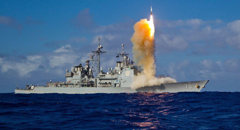 Lanzamiento de un misil de crucero (imagen referencial)