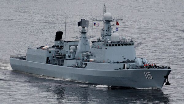 Un destructor de la Armada de China (archivo) - Sputnik Mundo