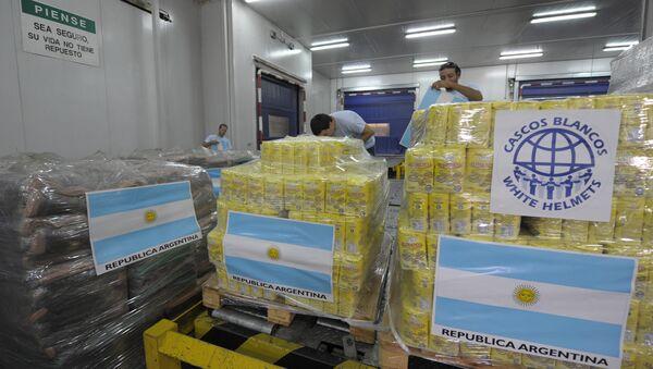 Ayuda humanitaria de Cascos Blancos de Argentina (archivo) - Sputnik Mundo