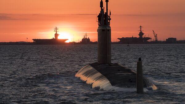 El USS Washington, submarino de clase Virginia de la Marina de Guerra de Estados Unidos - Sputnik Mundo