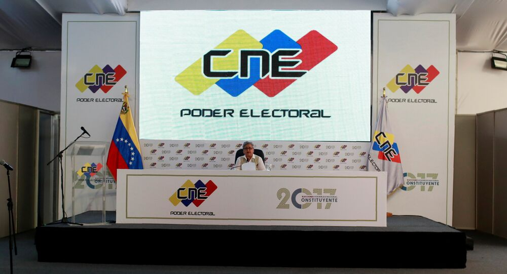 Tibisay Lucena, presidente del Consejo Nacional Electoral (CNE)