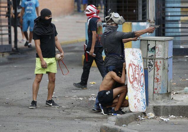 Manifestaciones de protesta en Venezuela (archivo)