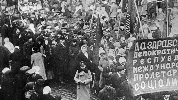 Una manifestación de protesta, 1917 - Sputnik Mundo