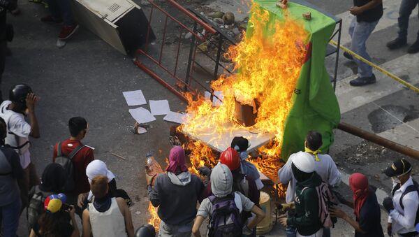 Manifestaciones en Venezuela - Sputnik Mundo
