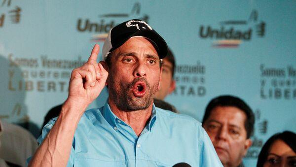 Henrique Capriles, opositor venezolano (archivo) - Sputnik Mundo