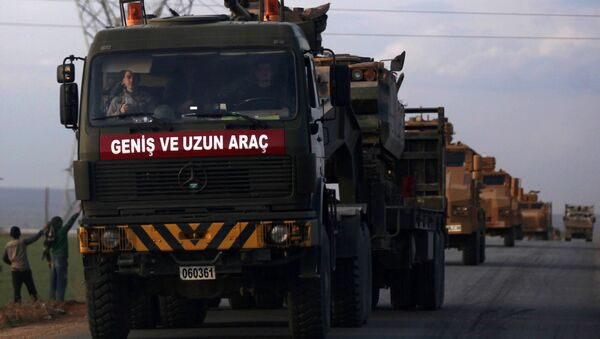 Las tropas turcas en Siria (archivo) - Sputnik Mundo