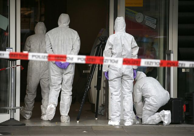 Las fuerzas de seguridad en el lugar del ataque en Hamburgo, Alemania (archivo)