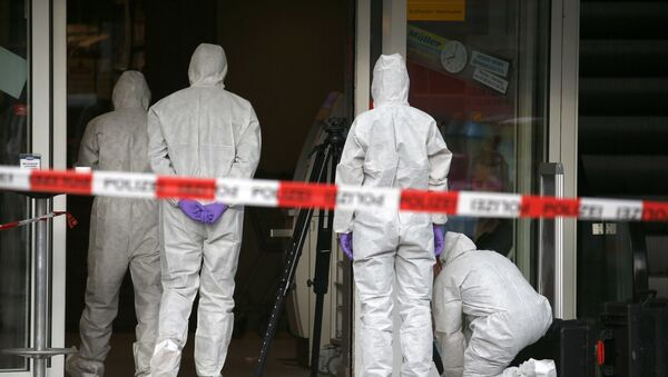 Las fuerzas de seguridad en el lugar del ataque en Hamburgo, Alemania (archivo) - Sputnik Mundo