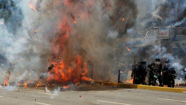 Las protestas en Venezuela (archivo) - Sputnik Mundo
