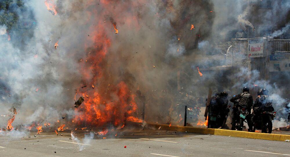 Las protestas en Venezuela (imagen referencial)