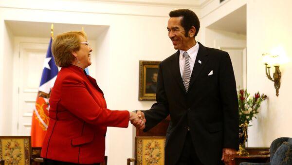 Michelle Bachelet, presidente de Chile, y Ian Khama, presidente de Botsuana - Sputnik Mundo