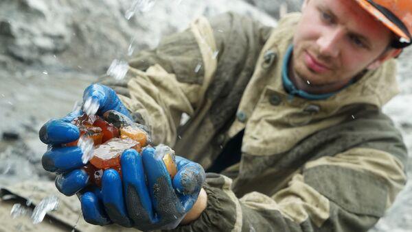 La tierra de la 'piedra de miel' rusa: la extracción de ámbar en Kaliningrado - Sputnik Mundo