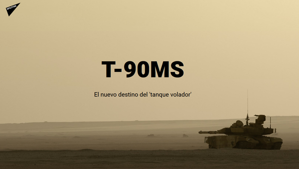 T-90MS, el nuevo destino del 'tanque volador' - Sputnik Mundo