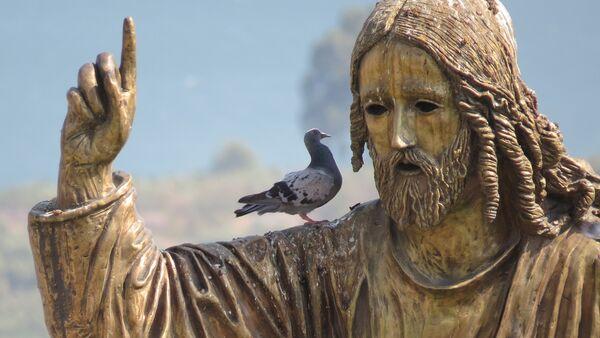 Una escultura de Jesús (una imagen referencial) - Sputnik Mundo