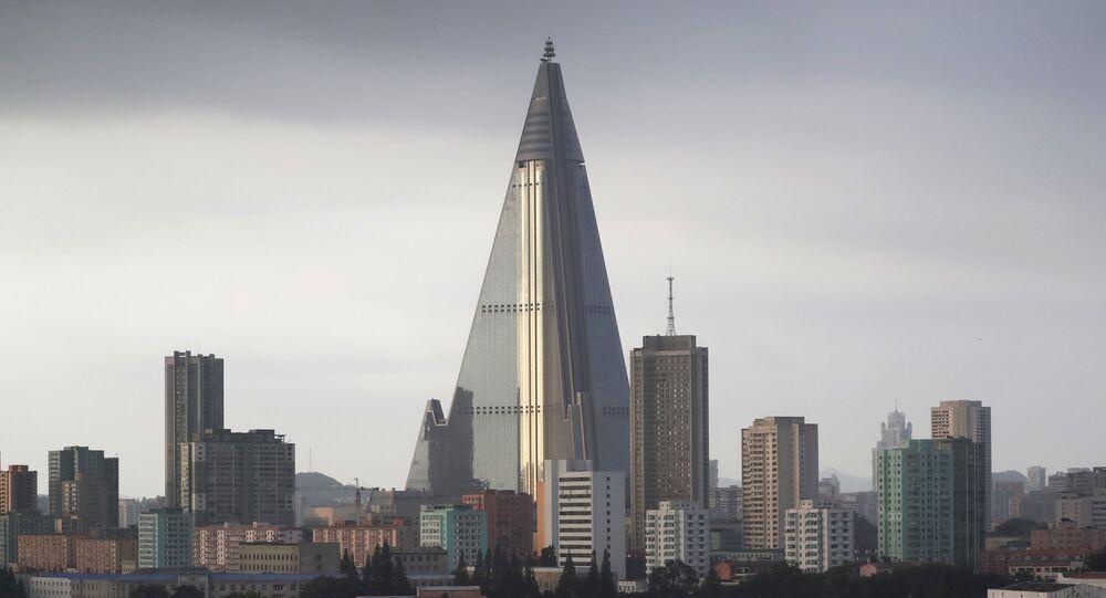 Hotel Ryugyong en Pyongyang, Corea del Norte