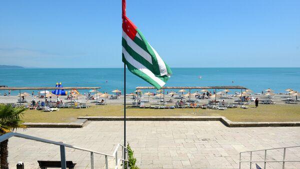 Bandera de Abjasia (archivo) - Sputnik Mundo