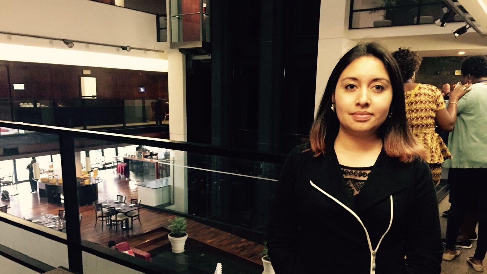 La abogada colombiana Cristina Roserok durante el seminario internacional sobre objeción de conciencia y aborto en Montevideo, agosto de 2017 - Sputnik Mundo, 1920, 04.08.2017