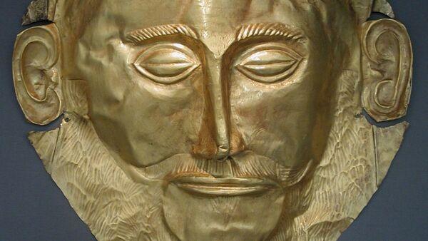 La máscara de Agamenón, de la civilización micénica - Sputnik Mundo