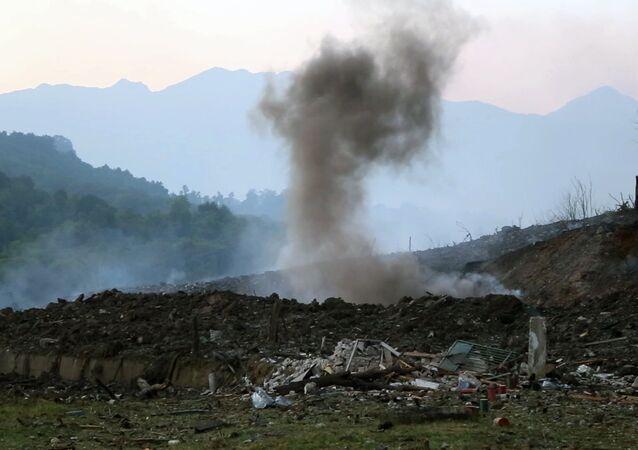 Explosión en un arsenal (imagen referencial)