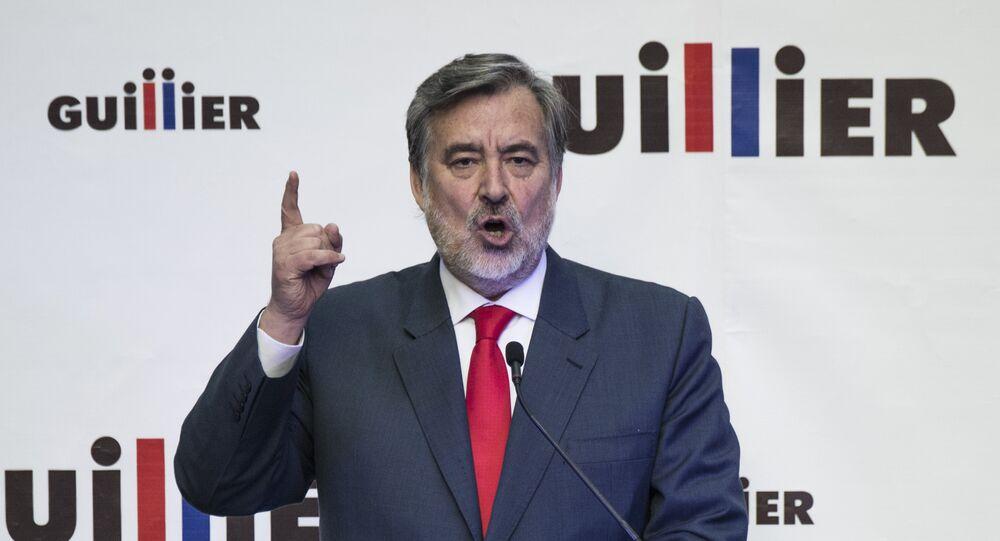 Alejandro Guillier, candidato a la presidencia chilena (archivo)