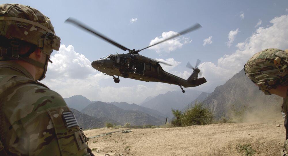 Un helicóptero militar de EEUU en Afganistán (imagen referencial)
