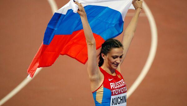 María Lasitskene, atleta rusa, en Pekín - Sputnik Mundo